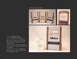 Coffee logo, and packaging